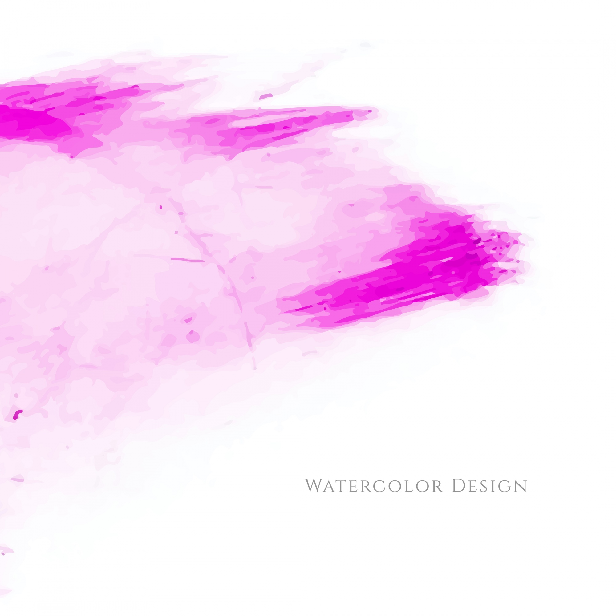 Abstract pink watercolor stain background