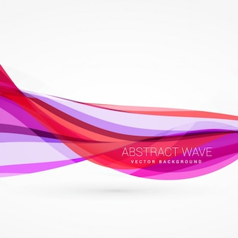 Abstract pink waves