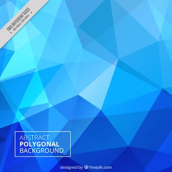 Abstract polygonal background in blue tones