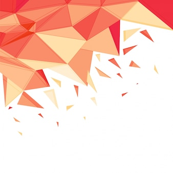 抽象的な多角形要素の背景。