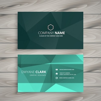 Abstract polygonal shape business card