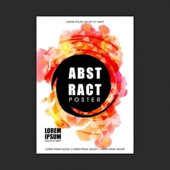 Abstract poster template with color shapes