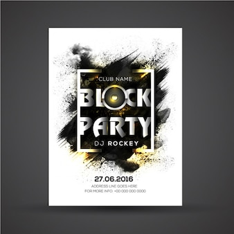 Abstract poster template with golden details