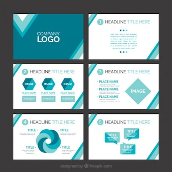 Abstract presentation with infography