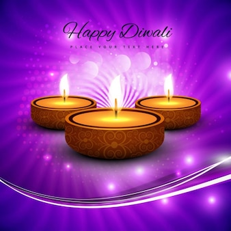 Abstract purple background of happy diwali