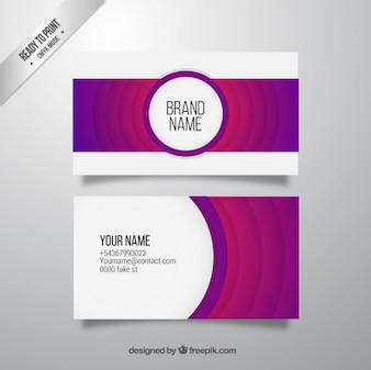 Abstract purple business card