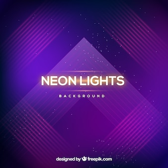 Abstract purple neon lights background