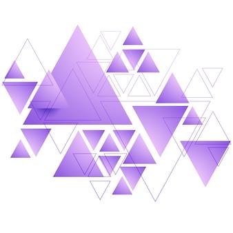 Abstract purple triangular background