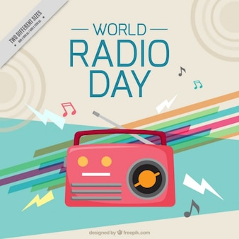 Abstract radio world day background