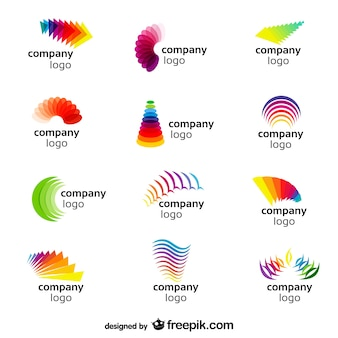 Abstract rainbow logos