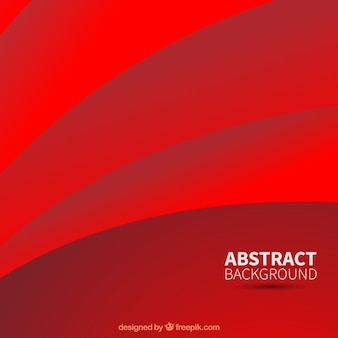 Abstract red background with curves