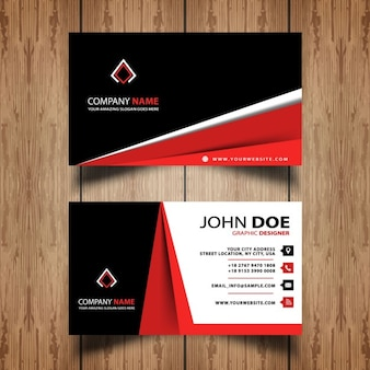Abstract red business card