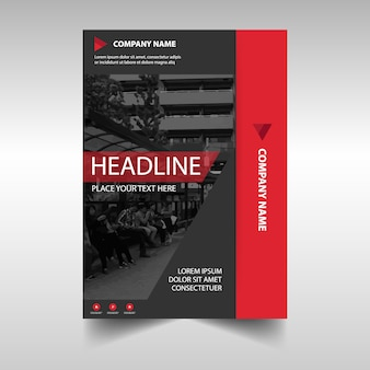 Abstract red business flyer template