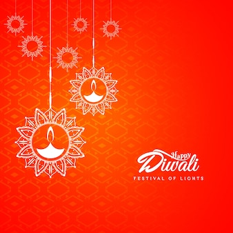 Abstract red diwali design