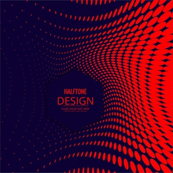 Abstract red dotted background