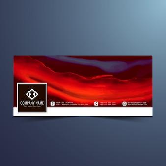 レッドカラーのフェイスブックタイムラインデザイン