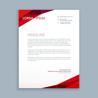 Abstract red letterhead
