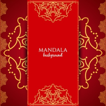 Abstract red luxury mandala background