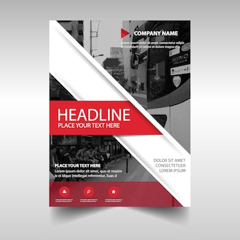 Abstract report cover template