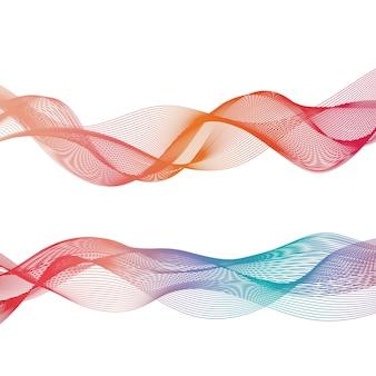 Abstract ribbon shapes