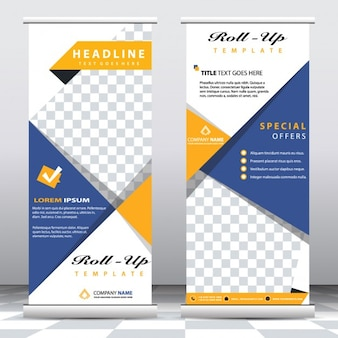 Abstract roll up banners templates