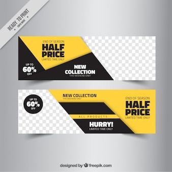 Abstract sale banner templates