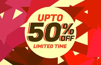 Abstract sale discount voucher design with warm colors