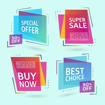 Abstract sale labels