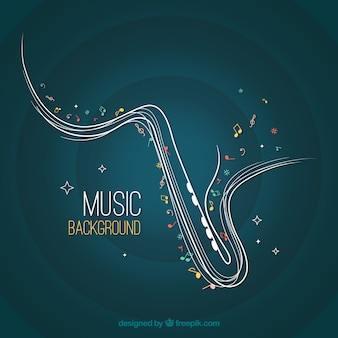 Abstract saxophone background