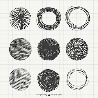 Abstract scribbles pack