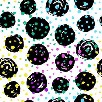 Abstract seamless pattern with circular elements