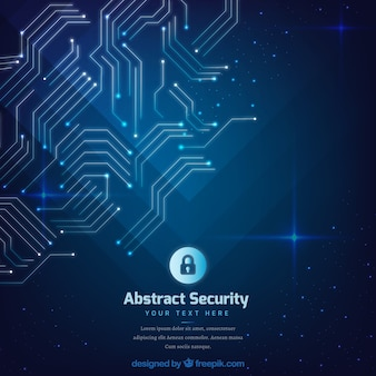 Abstract security background with circuits