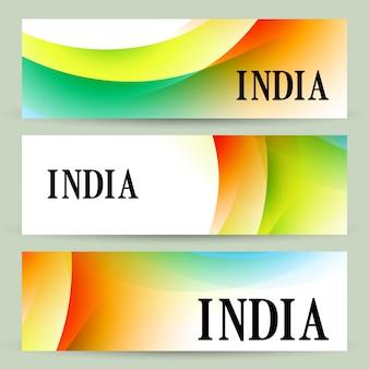 インドのヘッダーのスタイリッシュなセット