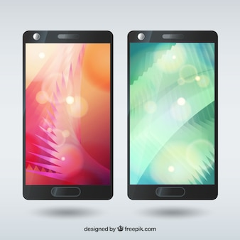 Abstract shape mobile wallpapers