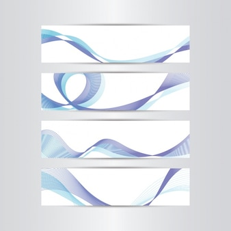 Abstract shapes banners collection