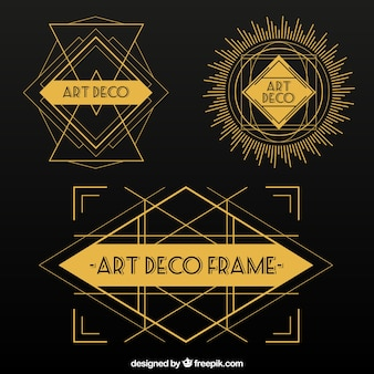 Abstract shapes in art deco style