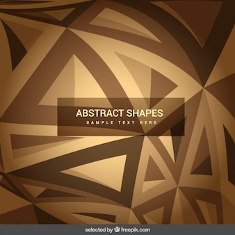 Abstract shapes in brown tones
