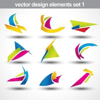 抽象的な形状ベクトルセット1