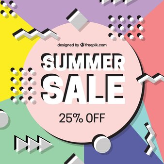 Abstract shapes summer offer background