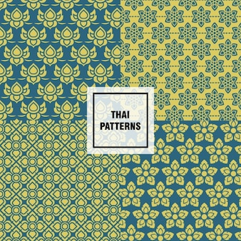 Abstract shapes thai patterns