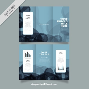 Abstract shapes trifold