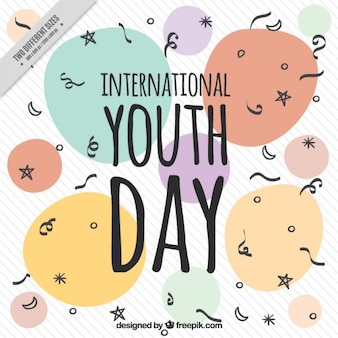 Abstract shapes youth day background