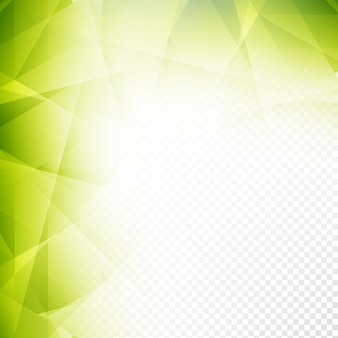Abstract shiny green polygonal background