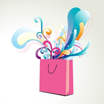 Abstract shopping bag design