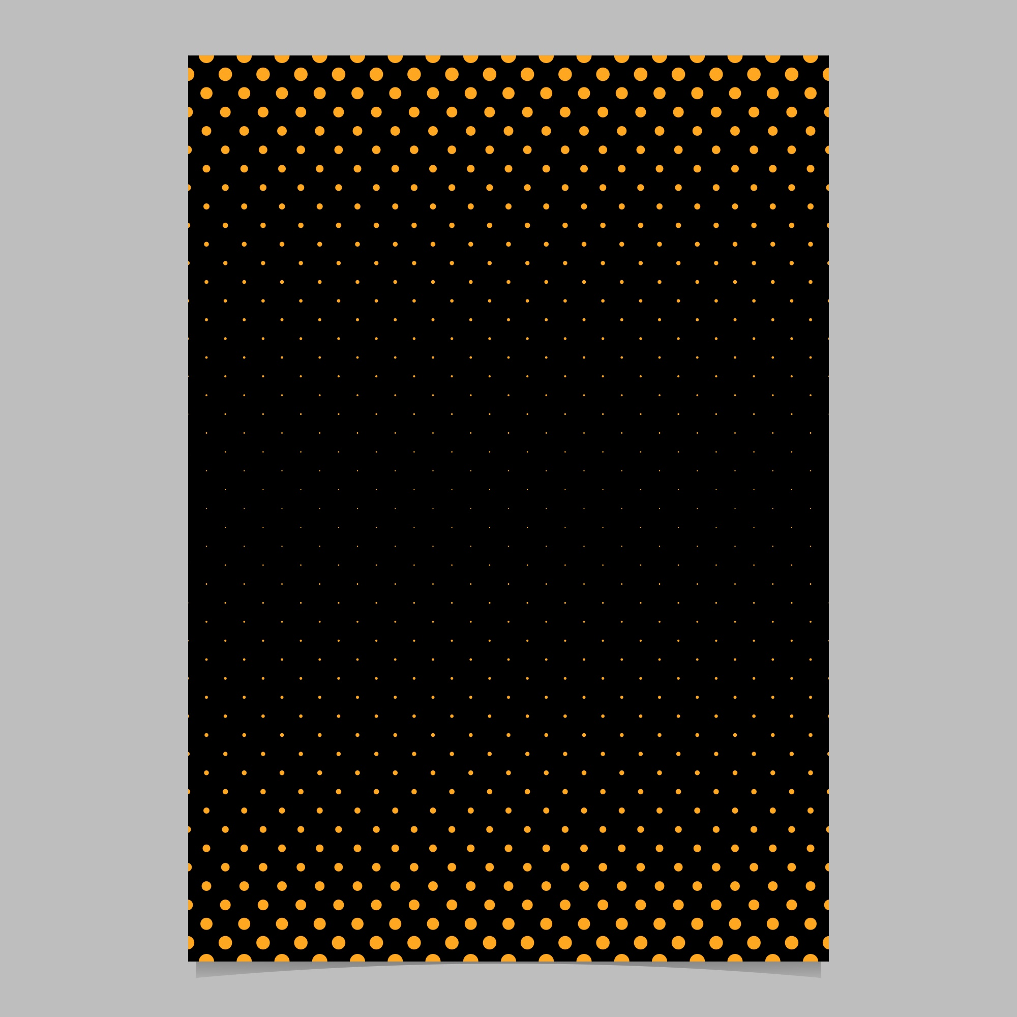 Abstract simple halftone dot pattern cover template - vector flyer background graphic with circle pattern