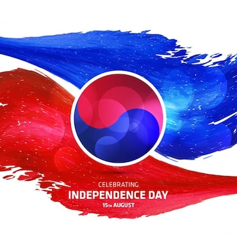 Abstract south korea independence day background