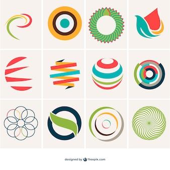 抽象球のロゴテンプレート