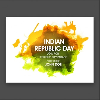 Abstract stained card for republic day of india