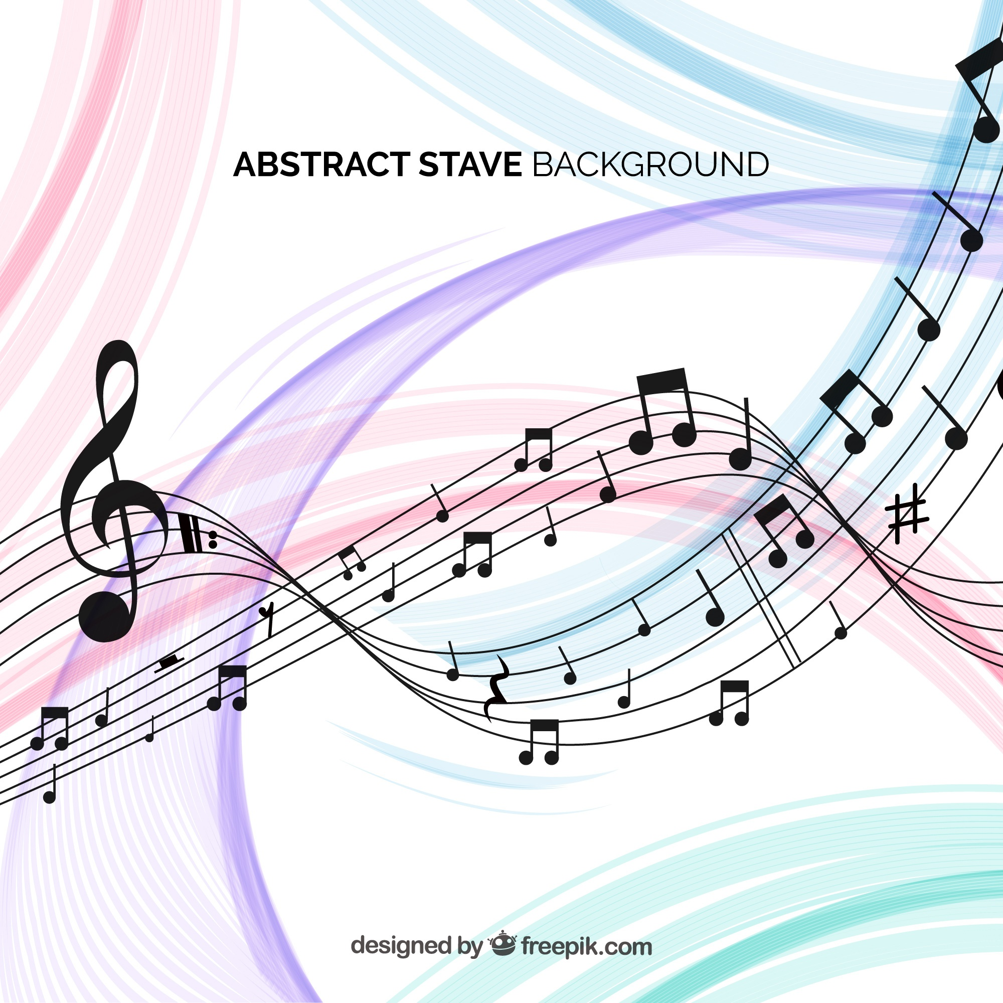 Abstract stave background