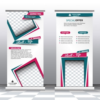 Abstract style roll up banners